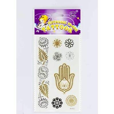 Tatouage Éphémère Métallique Fatima Fleurs