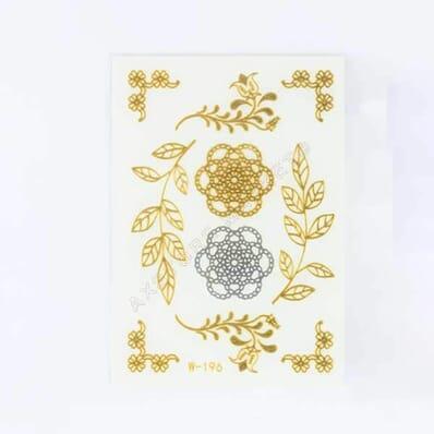 Tatouage Éphémère Métallique Mini Fleurs