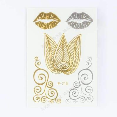 Tatouage Éphémère Métallique Mini Lotus