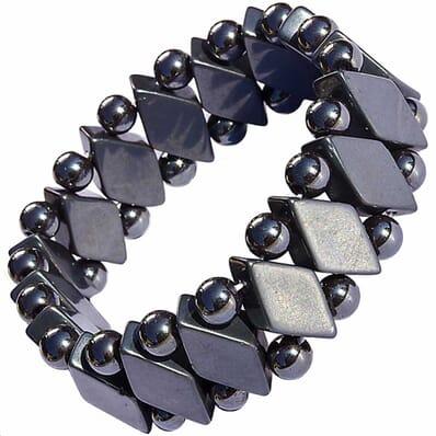 Bracelet Pierre Hématite Losange