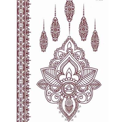Tatouage Éphémère Floral Henné