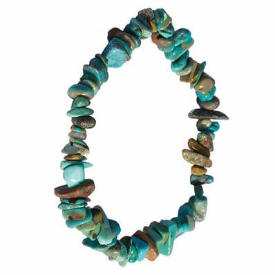 Bracelet Pierre Naturelle Turquoise Véritable